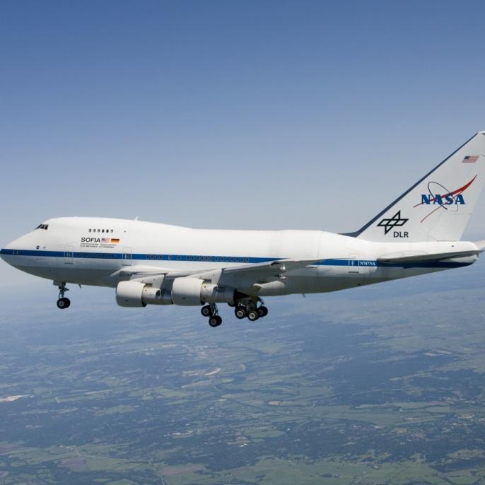 Erstflug am 26.04.2007: SOFIA im Flug