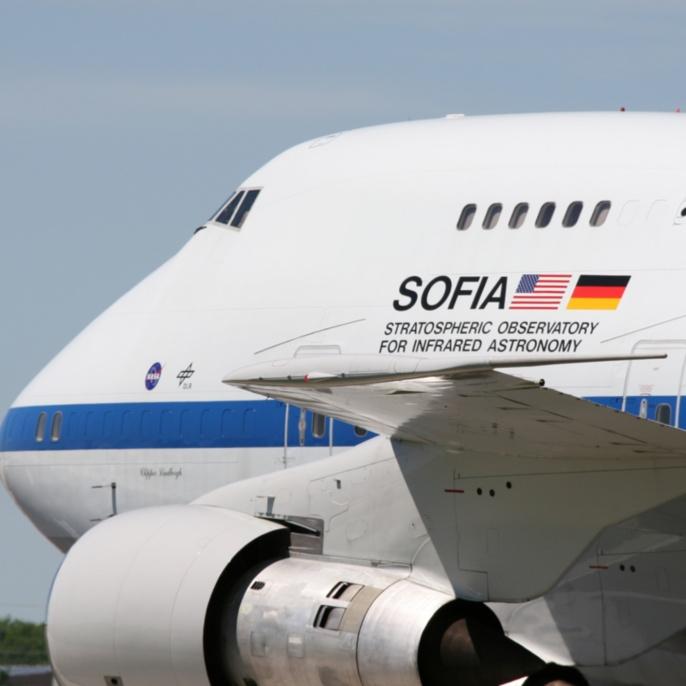 Erstflug am 26.04.2007: SOFIA nach der Landung