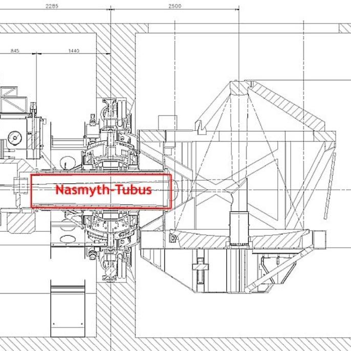 Teleskop - Nasmyth-Tubus