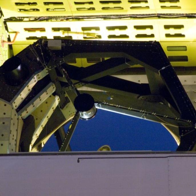 November 2008 - Teleskop erfolgreich am Boden getestet: Das Teleskop sieht Richtung Polaris