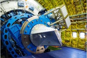 Das Teleskop von der Kabinenseite