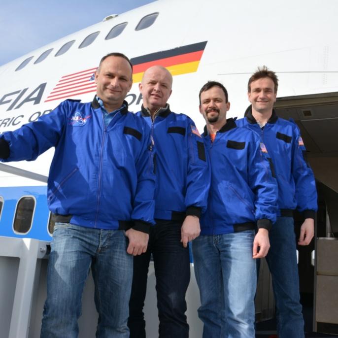 Olaf Hofschulz, Uwe Schierhorn, Jörg Dewitz und Sven Hanssen vor SOFIA_3