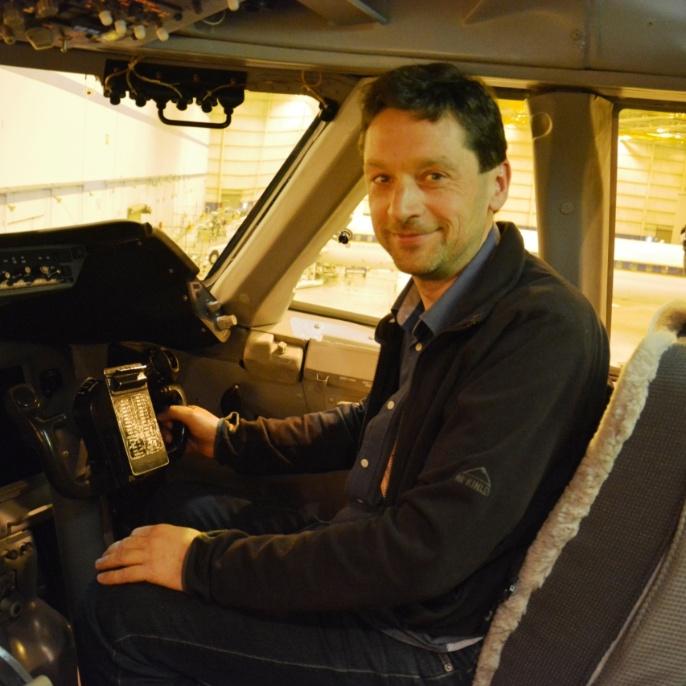 Mario Koch im Cockpit; copyright @ DSI