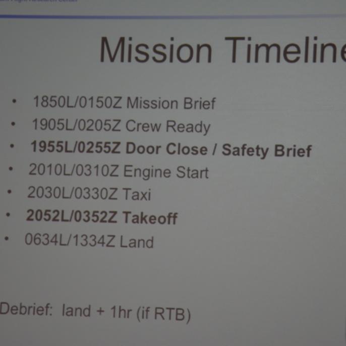 Mission Timeline; copyright @ DSI