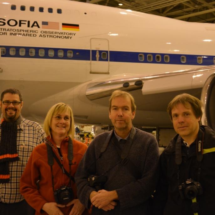 Karsten Schraut, Beate Brase, Stefan Burzin und Bernd Rohwedder vor SOFIA