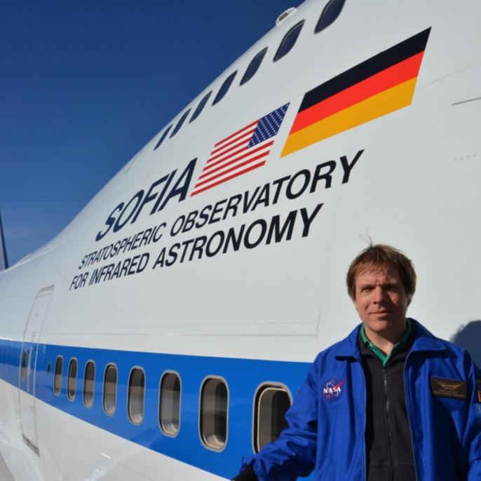 Bernd Rohwedder vor SOFIA