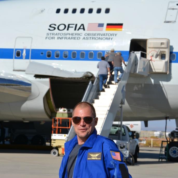 Thomas Ulrich vor SOFIA