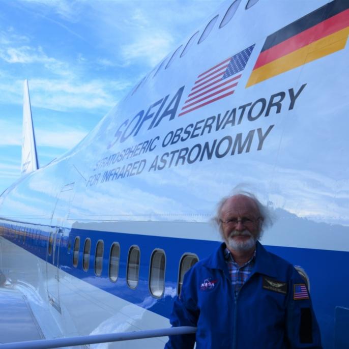 Klaus-Peter Haupt vor seinem ersten SOFIA-Mitflug