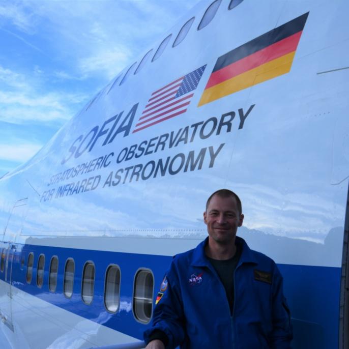 Thomas Ulrich vor seinem ersten SOFIA-Mitflug