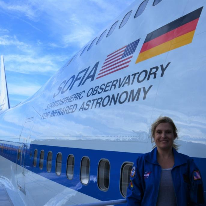 Manuela von Werder vor ihrem ersten SOFIA-Mitflug