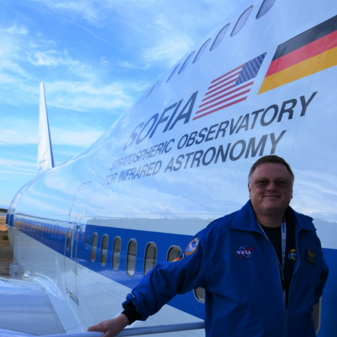 Wolfgang Claas vor seinem ersten SOFIA-Mitflug