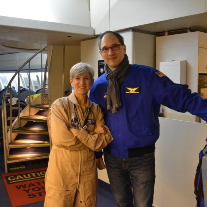 Pilotin Elizabeth Ruth und Mario Cimiotti