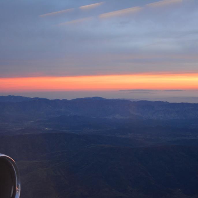 Sonnenuntergang aus SOFIA