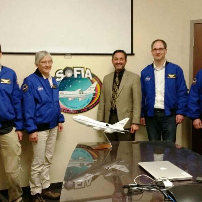 Treffen mit NASA SOFIA Programm Manager Eddei Zavala