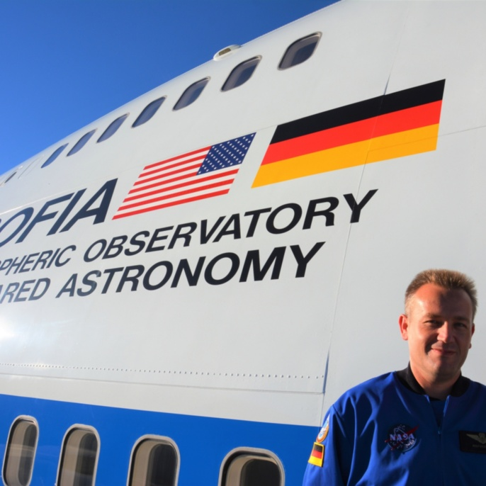 Rolf Stökler vor SOFIA