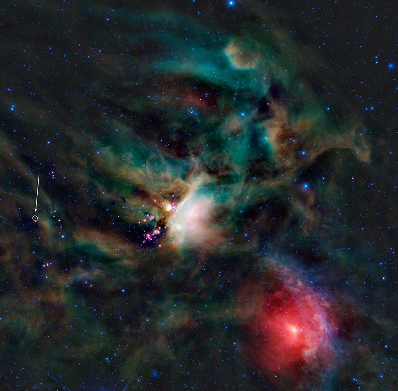 Infrarotbild der Rho-Ophiuchi-Sternentstehungsregion