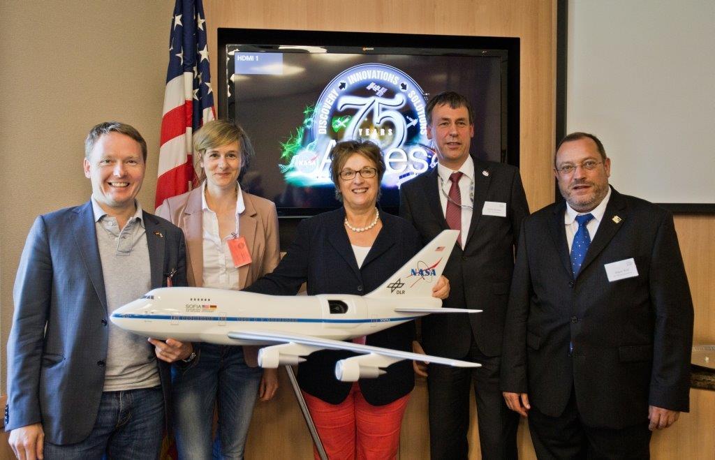 Brigitte Zypries besucht den DSI Standort am NASA Ames Research Center