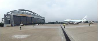 SOFIA auf der Basis von Lufthansa Technik in Hamburg
