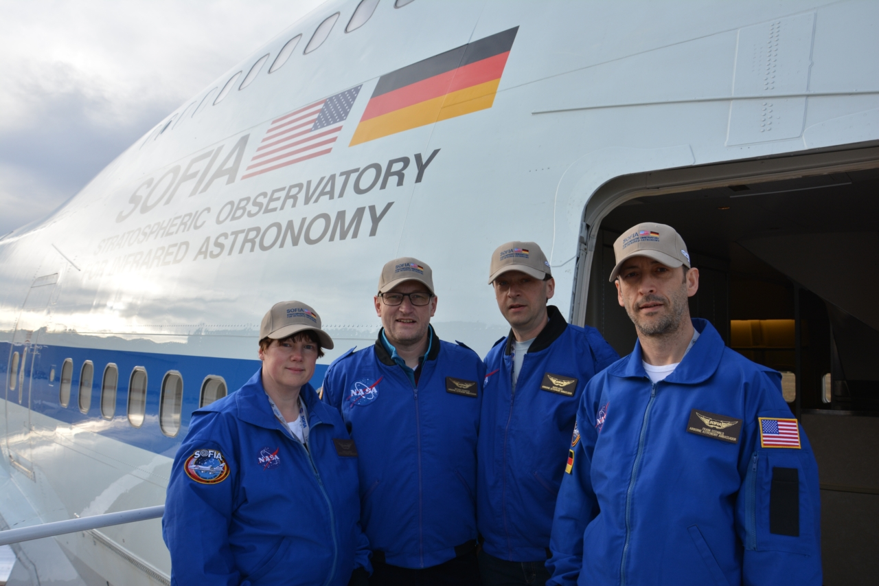 Die vier deutschen Lehrer vor dem Start