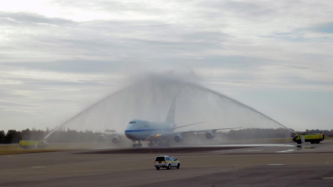 SOFIA bei der Landung in Christchurch