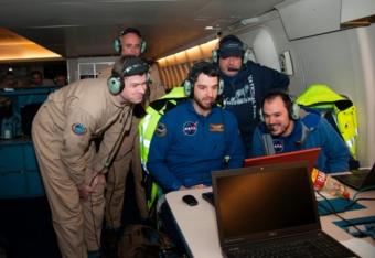 FPI+DSI Crew während der Bedeckung