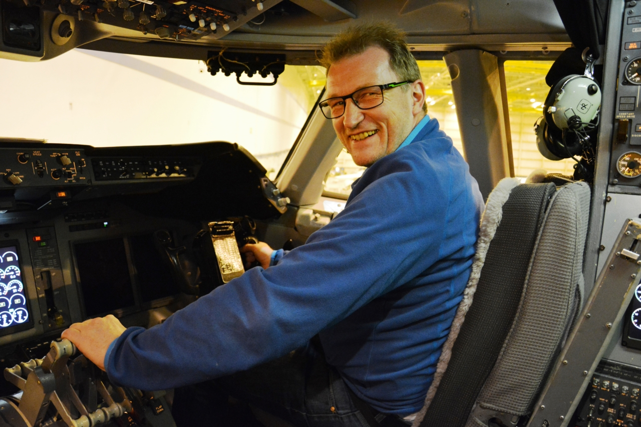 Mathias Schäfer im Cockpit