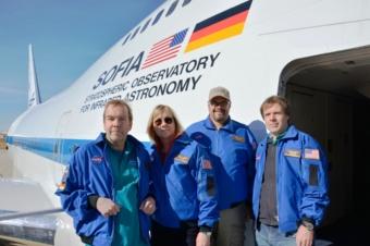 Die vier deutschen Stratonauten vor dem Start