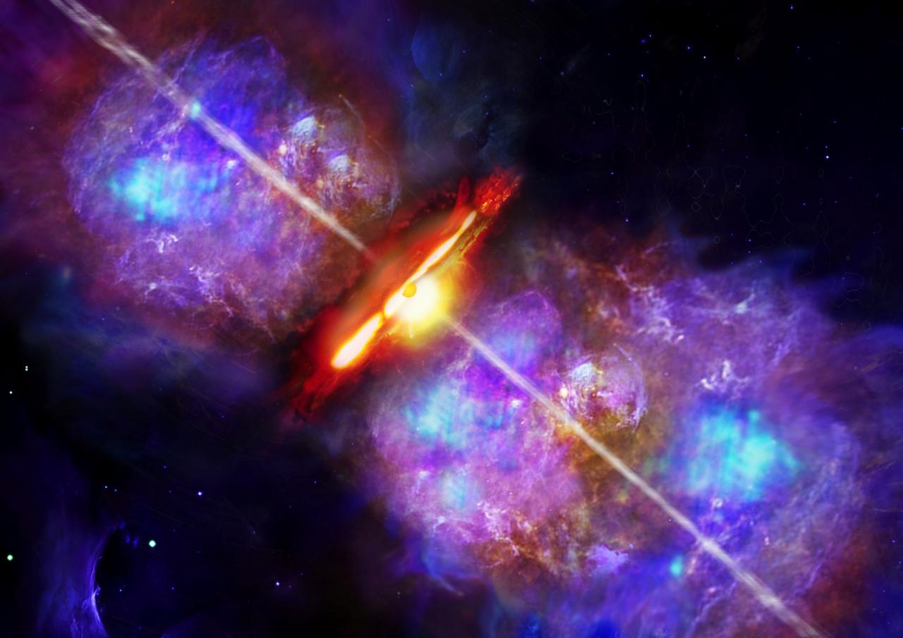 Künstlerische Darstellung des Helligkeitsausbruchs von S255IR NIRS 3