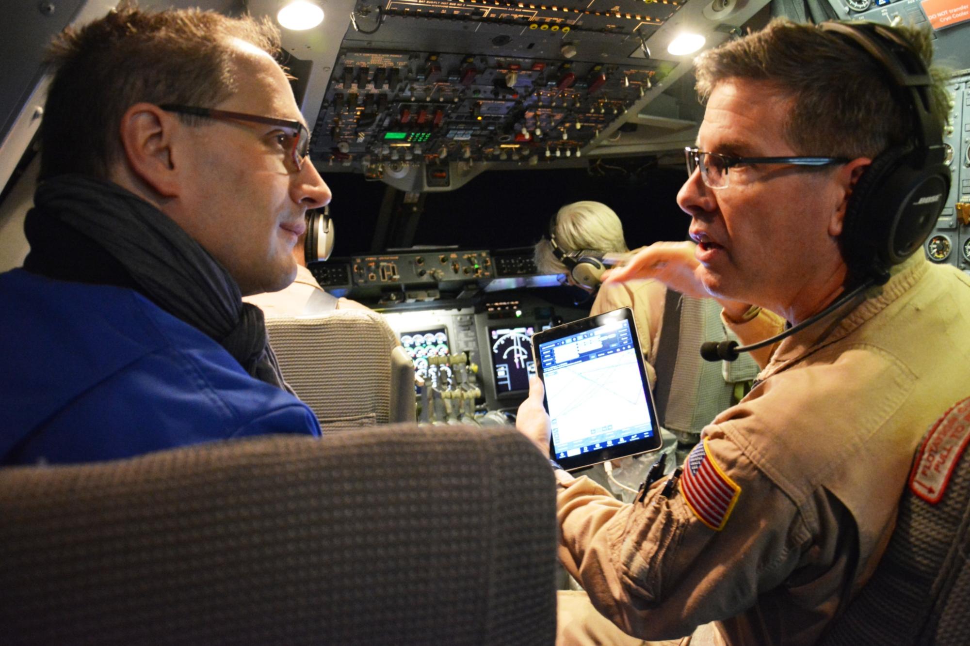 Mario Cimiotti im Cockpit