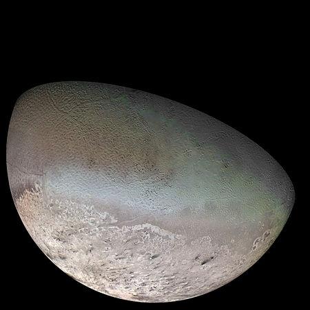 Triton Aufnahme der Voyager Sonde