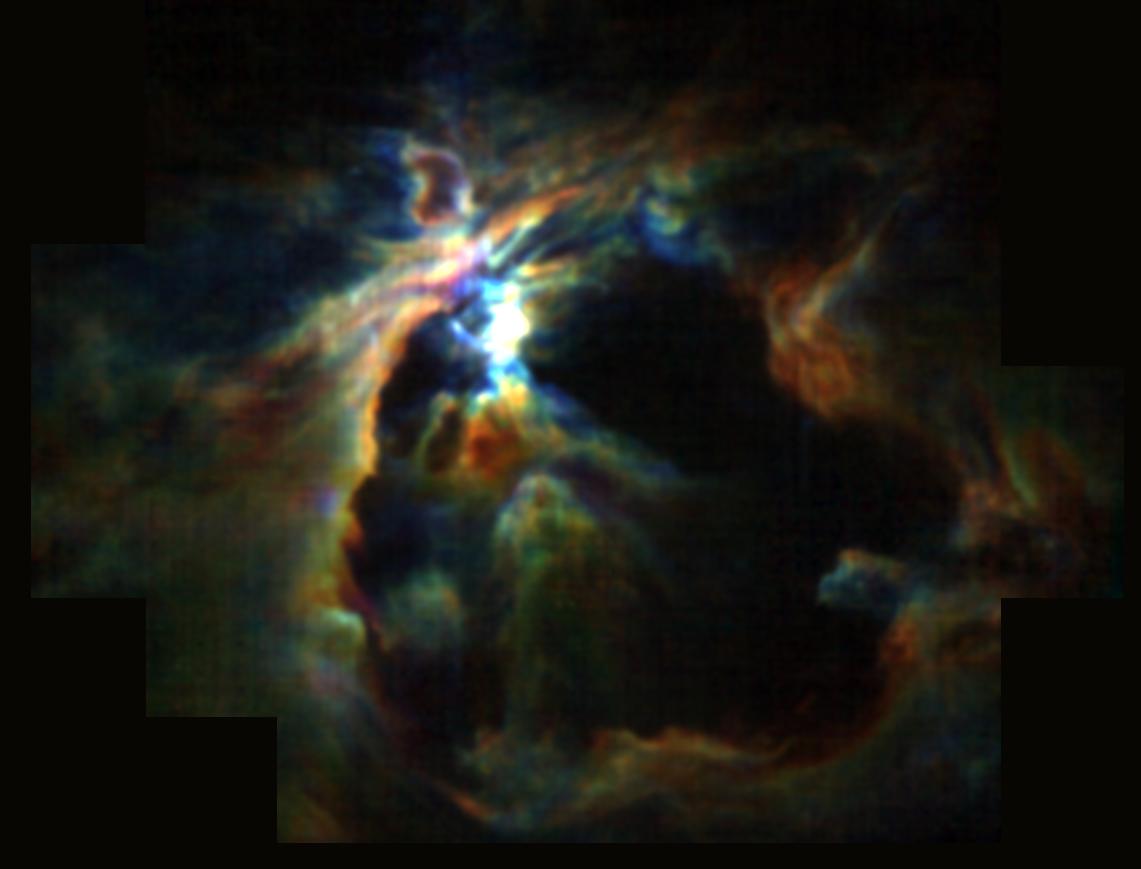 3-D Ansicht des Orion-Nebels