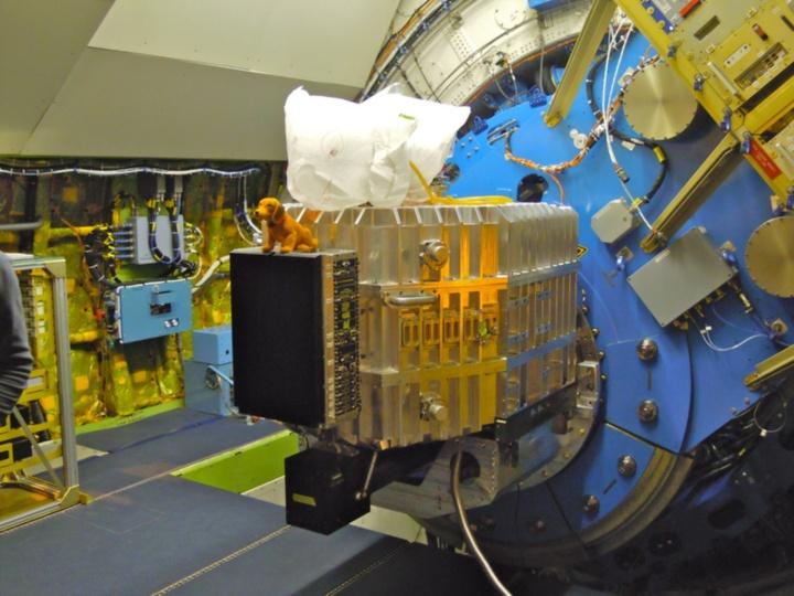 FIFI-LS montiert am SOFIA Teleskop