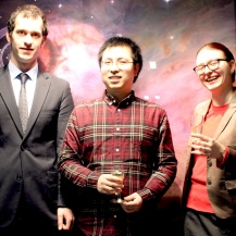 Die drei Patzer-Preisträger 2019: Michael Rugel, Daizhong Liu und Irina Smirnova-Pinchukova. C. Lenz / MPIA