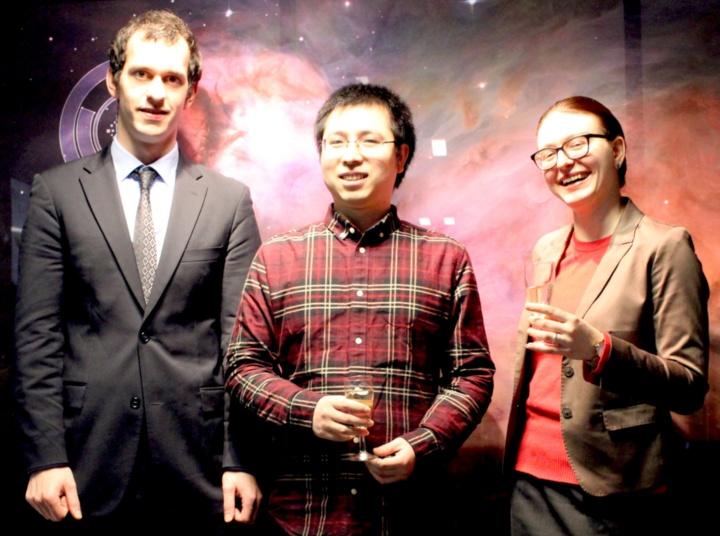 Die drei Patzer-Preisträger 2019: Michael Rugel, Daizhong Liu und Irina Smirnova-Pinchukova.