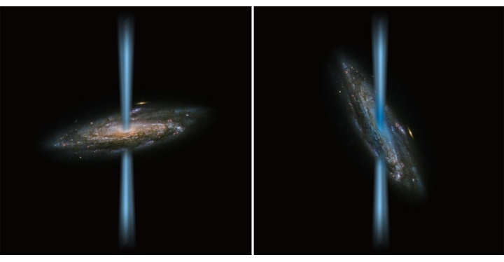 Artist's concept of a jet from an active black hole