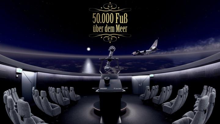 """Intro der Show """"50.000 Fuß über dem Meer - die fliegende Sternwarte SOFIA""""."""