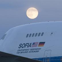SOFIA im Mondschein NASA / Carla Thomas