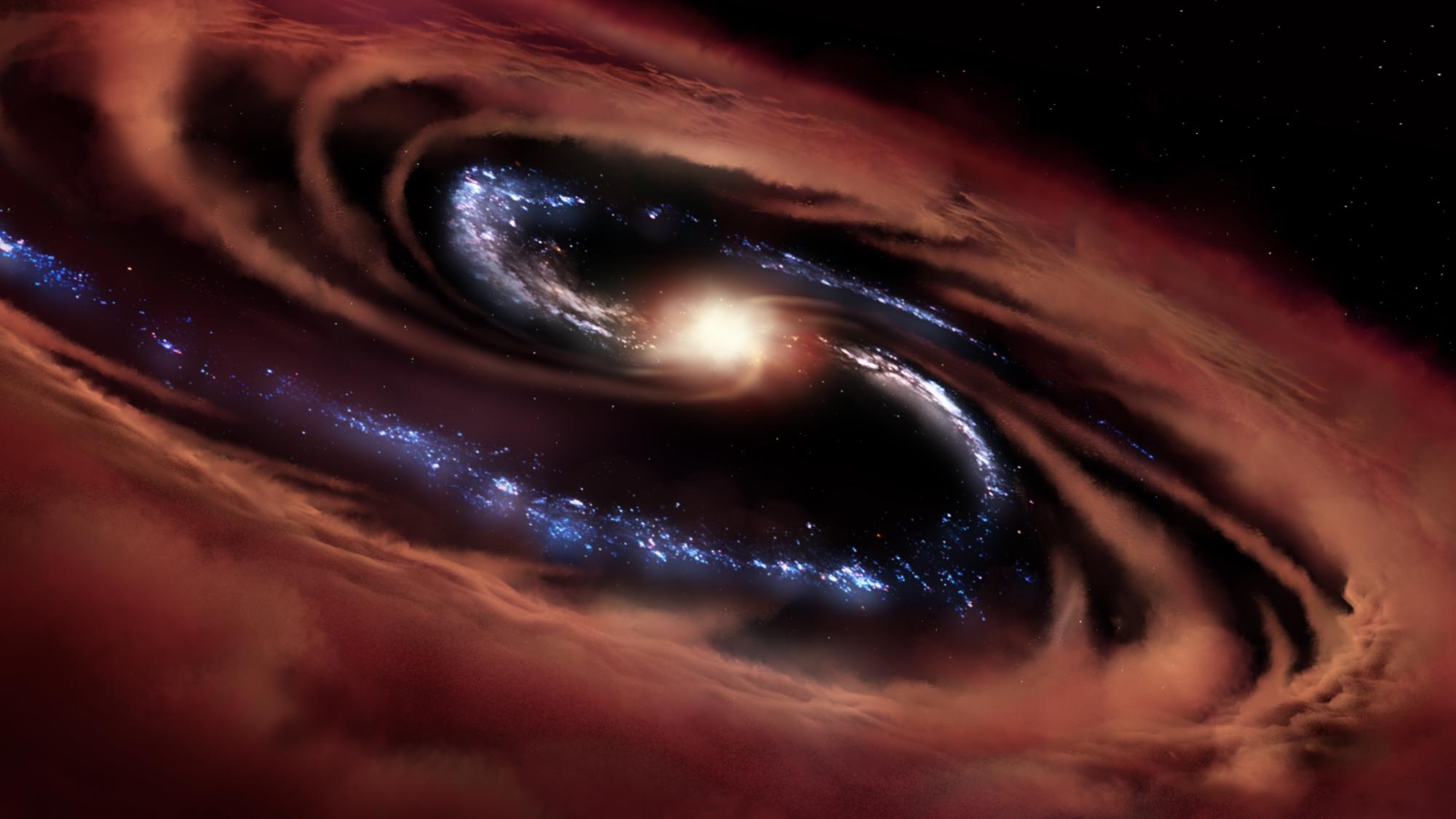 Kalte Quasare und die Entwicklung von Galaxien