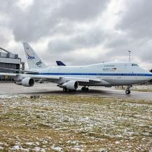 SOFIA verlässt das Lufthansa Technik in Hamburg nach abgeschlossener Wartung Florian Behrens / DSI