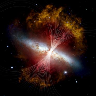 Magnetfeld in M82