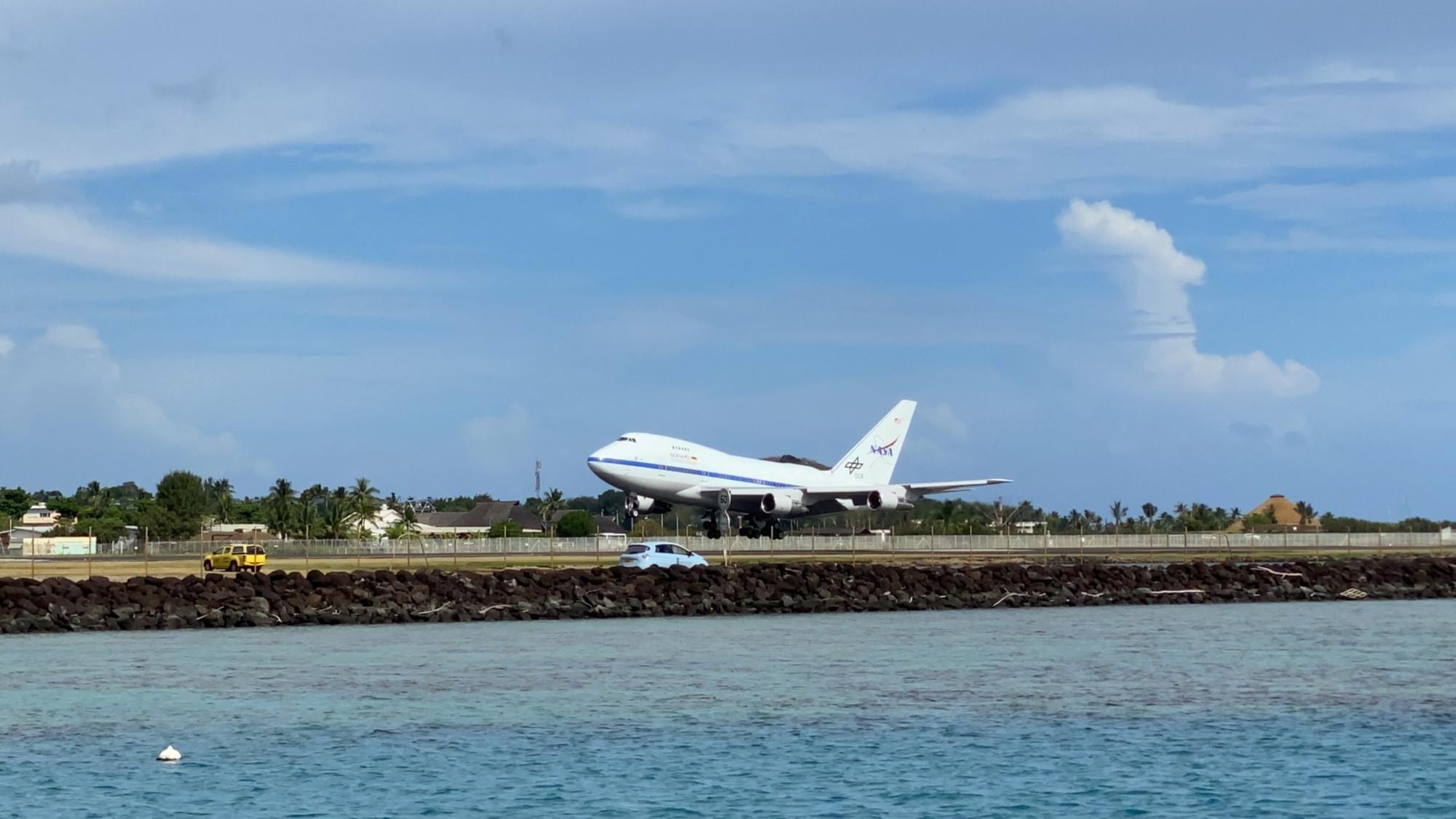 Landung auf Tahiti