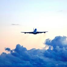 Beim Start zum ersten Flug