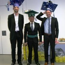 Die drei frischgebackenen Doktoranden