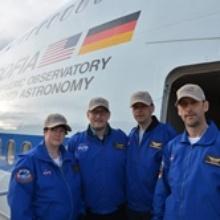 Die vier deutschen Lehrer vor ihrem ersten SOFIA Flug